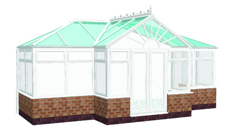 T Shaped Combination Conservatory