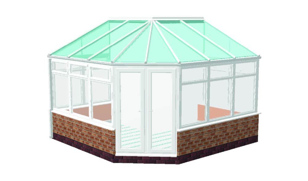 L Shaped Combination Conservatory