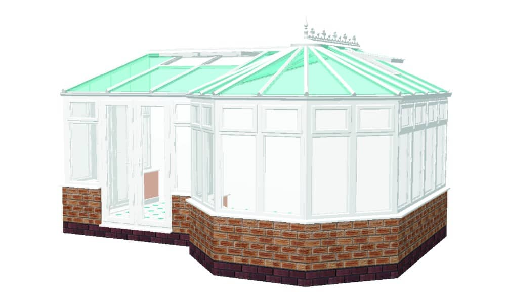 P Shaped Combination Conservatory