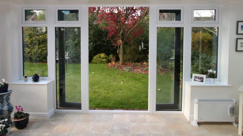 French doors uvpc pvcu andover winchester for French doors with windows on each side