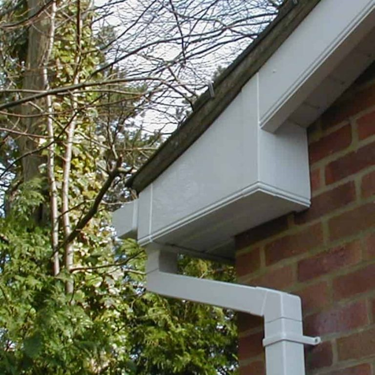 Round Or Square Gutters Guttering Downspout Cleanouts
