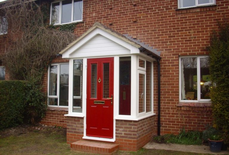 Porch designs new replacement porch andover for Porch designs for bungalows uk