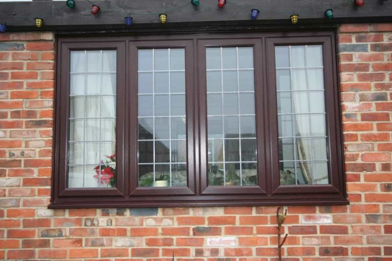 Rosewood Pvcu Square Leaded Window Test Valley Windows
