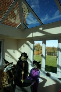 Livin Room Orangery Andover Hampshire at Halloween 2